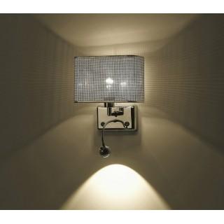 ZUMA LINE Lampa wewnętrzna kinkiet BLINK, W0173-02A-F4B3, srebrny.