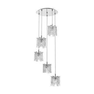 ZUMA LINE Lampa wewnętrzna wisząca FROZE, P0509-05D-B5AC, transparentny.