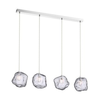 ZUMA LINE Lampa wewnętrzna wisząca ROCK, P0488-04F-B5AC, transparentny, srebrny.
