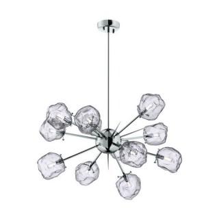 ZUMA LINE Lampa wewnętrzna wisząca ROCK, P0488-12P-F4AC, transparentny, srebrny.