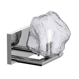 ZUMA LINE Lampa wewnętrzna kinkiet ROCK, W0488-01A-B5AC, transparentny, srebrny.