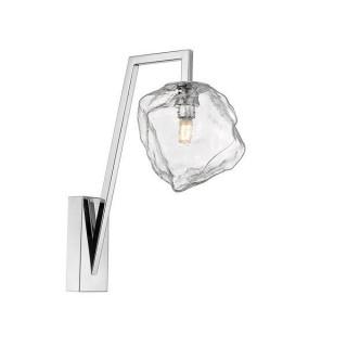 ZUMA LINE Lampa wewnętrzna kinkiet ROCK, W0488-01E-F4AC, transparentny, srebrny.