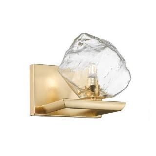 ZUMA LINE Lampa wewnętrzna kinkiet ROCK, W0488-01A-U8AC, transparentny, złoty.