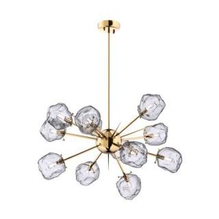 ZUMA LINE Lampa wewnętrzna wisząca ROCK, P0488-12P-U8AC, transparentny, złoty.