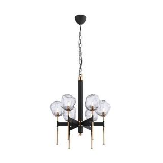 ZUMA LINE Lampa wewnętrzna wisząca ROCK, P0488-06L-SEAC, czarny, złoty.