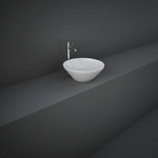 RAK CERAMICS Variant Umywalka 36x36 cm nablatowa, okrągła, biały połysk. WYSYŁKA w 24h GRATIS !!!