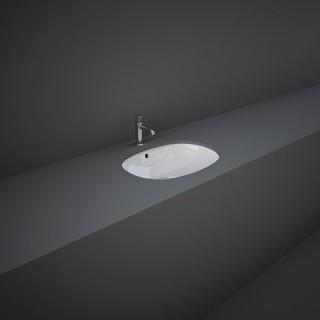 RAK CERAMICS Variant Umywalka 50x36 cm podblatowa, owalna, biały połysk.