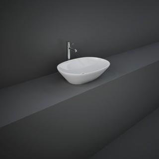 RAK CERAMICS Variant Umywalka 50x36 cm nablatowa, owalna, biały połysk. WYSYŁKA w 24h GRATIS !!!