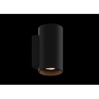 ZUMA LINE Lampa wewnętrzna kinkiet SANDY WL ROUND, 92696 black, czarny.