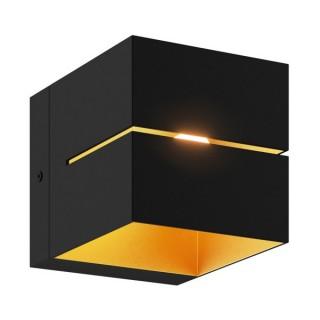 ZUMA LINE Lampa wewnętrzna kinkiet TRANSFER WL2, 91067 black, czarny.