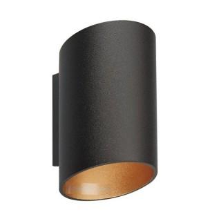 ZUMA LINE Lampa wewnętrzna kinkiet SLICE WL, 50603-BK/GD black-gold, czarny.