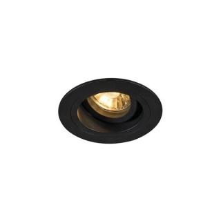 ZUMA LINE Lampa wewnętrzna Spot CHUCK DL ROUND, 92700 black, czarny.