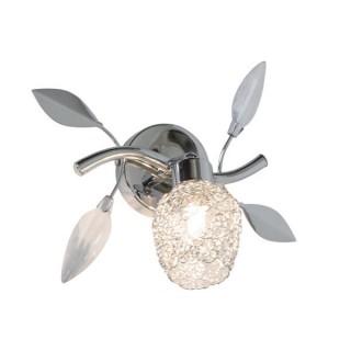 ZUMA LINE Lampa wewnętrzna kinkiet GUARAN, G916006-1R, srebrny.