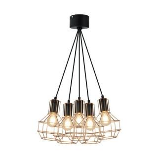 ZUMA LINE Lampa wewnętrzna wisząca GIULIO, P12105-L-5, czarny.