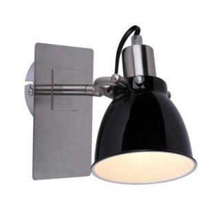 ZUMA LINE Lampa wewnętrzna kinkiet PICTOR, RLB94023-1B, czarny.