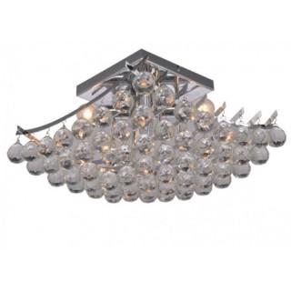 ZUMA LINE Lampa wewnętrzna sufitowa MEDEL, RLX94188-4, srebrny, transparentny.