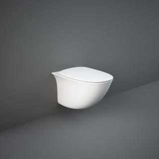 RAK CERAMICS Zestaw Sensation Miska WC podwieszana rimless 48x38  cm + deska wolnopadająca.