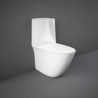 RAK CERAMICS Zestaw Sensation Kompact: Miska WC rimless 62x38 cm + zbiornik do kompaktu + deska WC wolnoopadająca.
