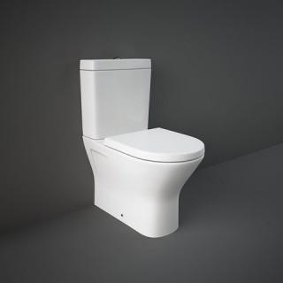 RAK CERAMICS Zestaw Resort Kompakt: Miska WC rimless 60x36cm do compactu + zbiornik do kompaktu + deska WC slim wolnoopadająca.