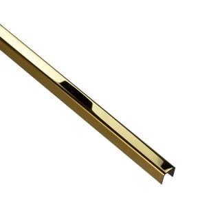 PROFIL DESIGN Listwa dekoracyjna GOLD 10mm, stal polerowana lustro, 270cm.