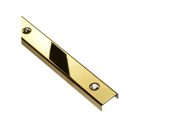 PROFIL DESIGN Listwa dekoracyjna GOLD SWAROVSKI 23mm, stal polerowana lustro, 244cm.