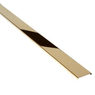 PROFIL DESIGN Listwa dekoracyjna GOLD 50mm, stal polerowana lustro, 270cm.