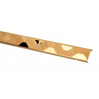 PROFIL DESIGN Listwa dekoracyjna GOLD 3D 30mm, stal polerowana lustro, 270cm.