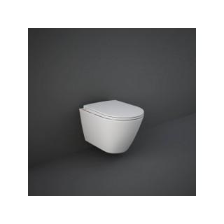 RAK CERAMICS Zestaw Resort Miska WC podwieszana 52x36 cm, rimless + deska slim wolnopadająca.