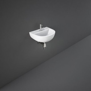 RAK CERAMICS Compact Umywalka 50x38 cm wisząca, biały połysk