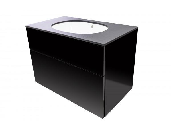 SMOOTH Szafka wisząca z umywalką podblatową - komplet, 60x50x55 cm, Imperium.