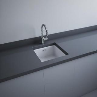 RAK CERAMICS RAK SILVIA Zlewozmywak ceramiczny 45x48 cm, SILVBIM, biały mat. WYSYŁKA w 24h GRATIS !!!