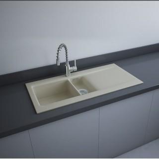 RAK CERAMICS RAK DREAM 1 Zlewozmywak ceramiczny 101x51 cm, DRE1BIP, biały mat. WYSYŁKA w 24h GRATIS !!!