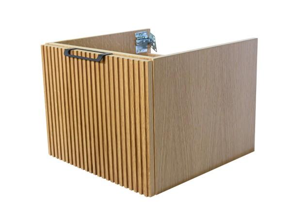 Wooden Szafka wisząca z umywalką podblatową, 60x40x50cm