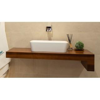 IMPERIUM PŁYTEK, JASMINE Blat drewniany jesion termo, 100x50x3,5cm.