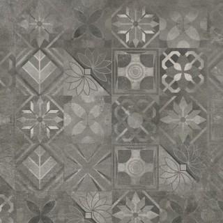 CERRAD Softcement Graphite poler gres rektyfikowany, dekor, patchwork 59,7x59,7x0,8 cm Gat.1
