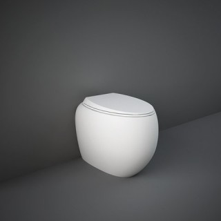 RAK CERAMICS Cloud Miska WC stojąca 56x40 cm, rimless, biały mat