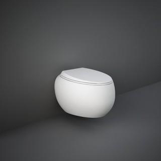 RAK CERAMICS Cloud Miska WC podwieszana 56x40 cm, rimless, biały mat