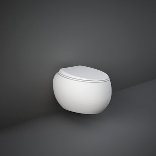 RAK CERAMICS Cloud Miska WC podwieszana 56x40 cm, rimless, biały połysk