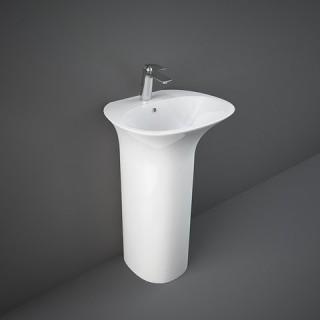 RAK CERAMICS Sensation Umywalka 55x46 cm wolnostojąca z otworem na baterię, biały połysk