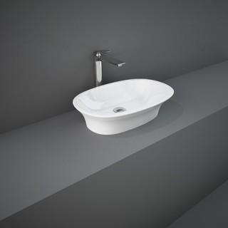 RAK CERAMICS Sensation Umywalka 60x38 cm nablatowa, biały połysk