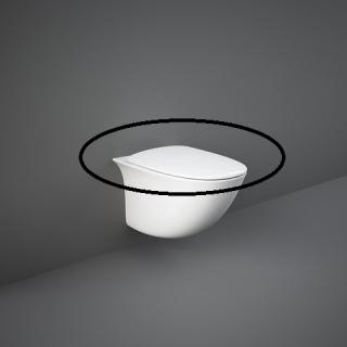 RAK CERAMICS Sensation Deska WC wolnoopadająca, biały połysk