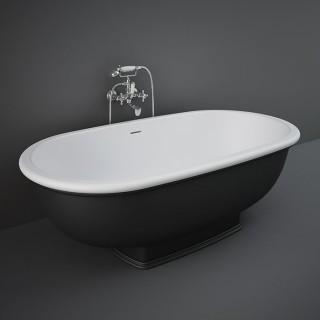 RAK CERAMICS Washington Wanna wolnostojąca 156x81 cm, czarny mat