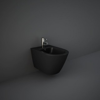 RAK CERAMICS Feeling Bidet podwieszany 52x36 cm, czarny mat