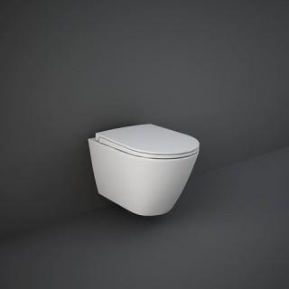 RAK CERAMICS Feeling Miska WC podwieszana 52x36 cm, rimless, biały mat