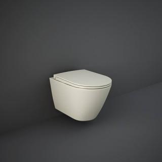RAK CERAMICS Feeling Miska WC podwieszana 52x36 cm, rimless, beżowy mat