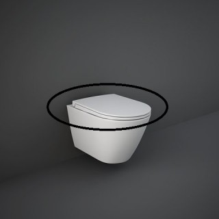 RAK CERAMICS Feeling Deska WC wolnoopadająca slim, beżowy mat
