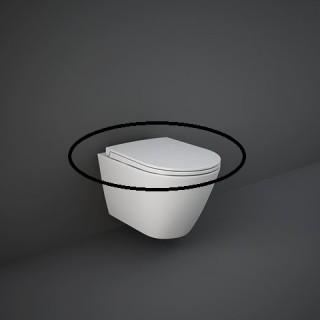 RAK CERAMICS Feeling Deska WC wolnoopadająca slim, szary mat