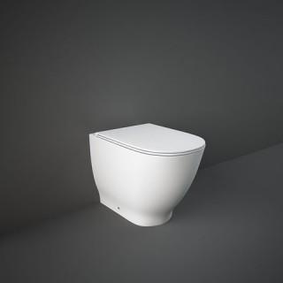 RAK CERAMICS Moon Miska WC stojąca 56x36 cm, rimless, biały połysk