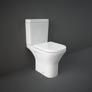 RAK CERAMICS Resort Kompakt WC (miska rimless+zbiornik) 60x36 cm, biały połysk