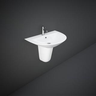 RAK CERAMICS Morning Półpostument do umywalek podwieszanych, biały połysk